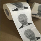 Novelty Printed Trump Hilarie Pattern Soft Coiling Block Toilet Paper