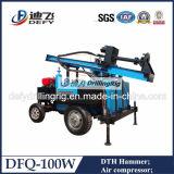 Dfq-100W Wheel Type Hydraulic 100m Water Well Drilling Rig
