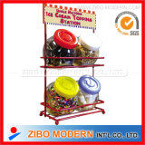 Wholesale Colored Lid Condiment Bottles Set with Show Metal Rack