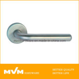 Stainless Steel Door Handle on Rose (S1141)