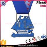 Die Cast Soft Enamel Metal Triathlon Sport Medal