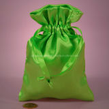 Sweety Olive Green Satin Silk Pouch