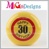 30th Birthday Present Customized Ceramic Emoji Money Bank