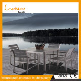Top Quality Aluminum Polywood Modern Table and Chair Set Garden Outdoor Leisure Dining Furniture