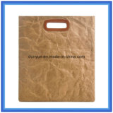 Custom Made DuPont Paper Tote Bag /Eco Friendly Tyvek Paper Shopping Bag/Smart Gift Handbag with PU Leather Handle