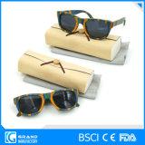 Adventure Travel Fashion Leopard Zebra Polarized Wooden Sunglasses with Case