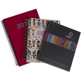 A5 Office/Student Stationery Hard/Soft Cover Spiral Notebook Planner (xc-6-004)