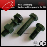 Black Hexagon Head Bolt with Nut and Spring Washer DIN933 DIN931
