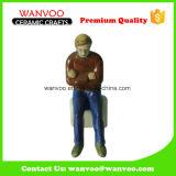 Hot Sale Embossed Handicrafts Stoneware OEM Ceramic Figurine