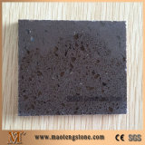 Dark Brown Sparkling Engineered Quartz Stone Solid Surface Sample
