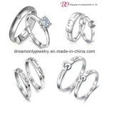 Fashion New Model Silver Ring, Cubic Zirconia Jewelry Engagement Ring, White Gold Diamond Wedding Ring