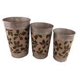 Galvanized Tin Garden Flower Pot for Chirstmas Gift Decoration