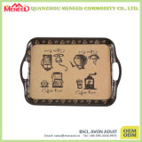 OEM Design Acceptable Reusable Melamine Handle Serving Tray