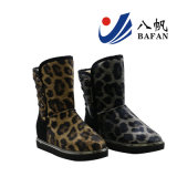 Women′s Leopard Print Fashion Snow Boots with Rivets Decoration Bf1610230