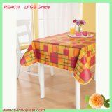 PVC Printed Tablecloth with Flannel Backing (TJ0248)