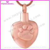 Pet Memorial Jewelry Heart Pendants with Paw