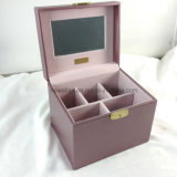 Display Leather Jewelry Box Beauty Cosmetic Case
