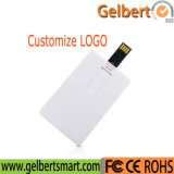 Customized Logo Print White Credit Card USB 16GB Flash Memory