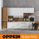 2017 White Lacquer 360cm Standard Modular Kitchen Cabinet (OP17-L01)