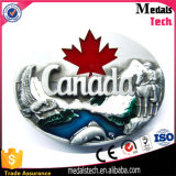a Canada Maple Belt Buckle with Soft Enamel