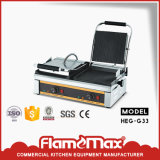 Double Grooved Commercial Panini Sandwich Grill