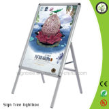 Double Sided a Size Aluminum Poster Display Stand