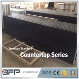 High End Mongolia Black Granite Countertop Polished with Small Chamfer