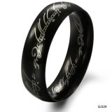 Anti Rust Engraved Fashion Mens Stainless Steel Rings Jewelry