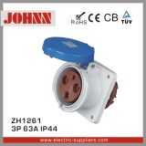IP44 3p 63A Panel Mounted Straight Socket for Industrial