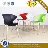 Cheap PP Plastic Chair Replica Chair with Solid Wood Legs Modern Plastic Dining Chair (hx-5CH141)