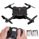 RC Pocket Mini Drone WiFi Fpv Camera Altitude Hold 3D Flips Headless Mode 6-Axis Gyro 4 Channels Foldble Quadcopter (Black)