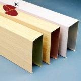 China Colorful Decorative Linear U Shape Suspended Aluminum False Ceiling