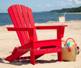 Classical Design Patio Garden Furniture Red Polywood Leisure Beach Chair with Adirondack Back