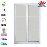 60 in. X 81 in. Mystique White Aluminum Sliding Door
