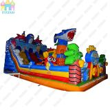 Children Outdoor Shark Inflatable Castle Games