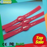 Fitness Center 13.56MHz Ntag215 Silicon RFID NFC Wristband