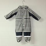 Sapphire/White PU Stripe Conjoined Raincoat/Overall for Baby/Children