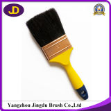 Natural Bristle Plastic Handle Yellow Paint Brush