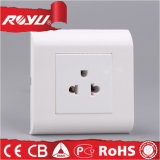 White Electric Power Wall Socket with Grounding 45*45 Modular