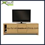 Home Living Modern Wooden TV Unit with 2 Slide Doors