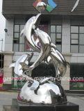 Dolphin Combination, Outdoor Garden Decoration Decorative Stainless Steel Sculpture