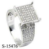 American Style 925 Silver Jewelry Hip Hop Mens or Women Ring Rhodiun.