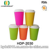 12oz New Fashionable Double Wall Plastic Coffee Mug (HDP-2030)