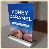 Exhibition Display Teardrop A3 Mini Roll up Banner Stand