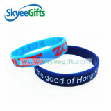 Promotion Gift Debossed Filled Color Silicone Wristband or Bracelets