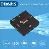 3 Ports Switcher Mini 1080P 3X1 HDMI Switcher