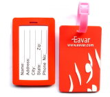 Custom Standard Size Silicon Rubber PVC Luggage Tag