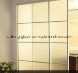 12mm Toughended Flat Acid Etched Glass for Doors and Windows