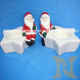 Ceramic Santa Claus Candle Holders (Christmas Craft)