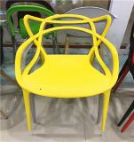 Modern Armless Metal Leg Restaurant Chair Plastic Dining Chair
